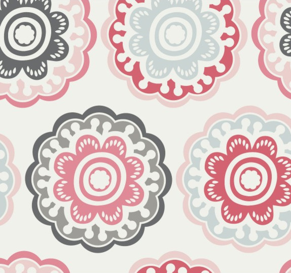 Zinnia Wallpaper - modern - wallpaper - by DwellStudio