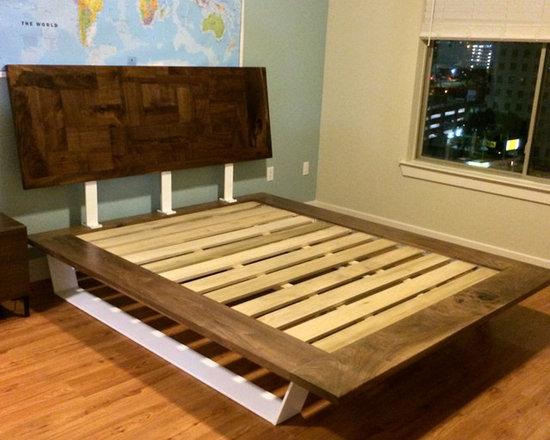 Gordon Walnut Platform Bed -