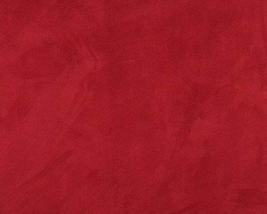 C067 Red Microsuede Fabric By The yard -