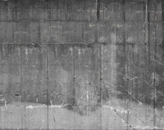 Concrete Wall No. 6 eclectic-wallpaper