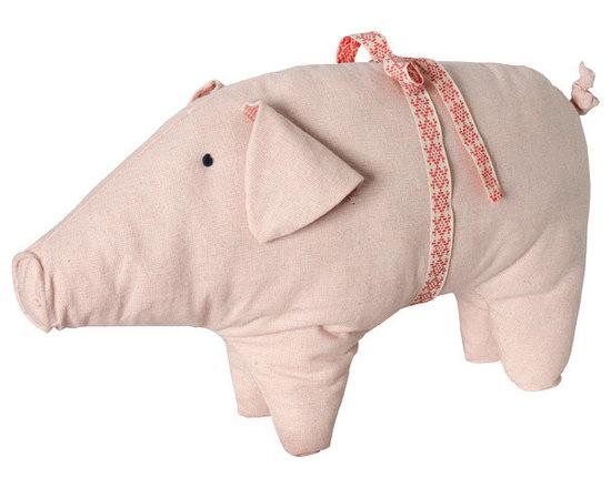 Pink Christmas Pig -