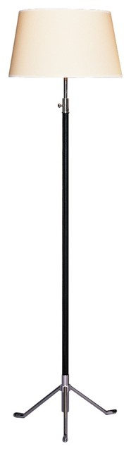 Contemporary Robert Abbey Todd Black Leather Footed Floor Lamp contemporary-floor-lamps
