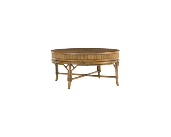 tommy bahama oyster cove round coffee table -