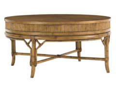 tommy bahama oyster cove round coffee table coffee-tables