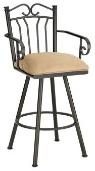 Barrington Home Sorento 26 in. Swivel Counter Stool with Arms modern-bar-stools-and-counter-stools