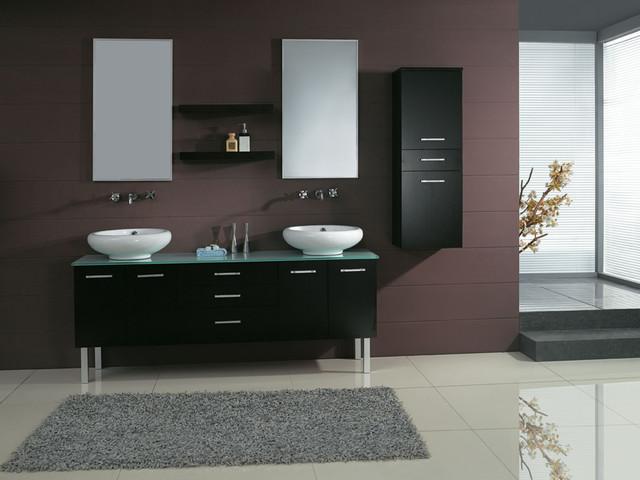 "72"" Millenium Double Vessel Sink Vanity - modern - bathroom"