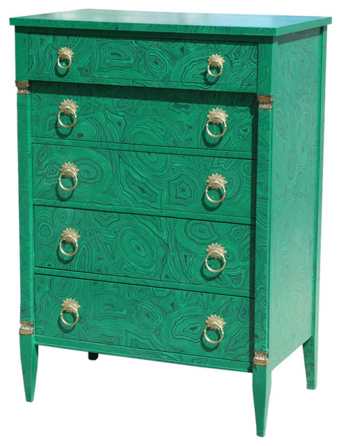 1940s Faux Malachite Chest Of Drawers Eclectic By 1stdibs