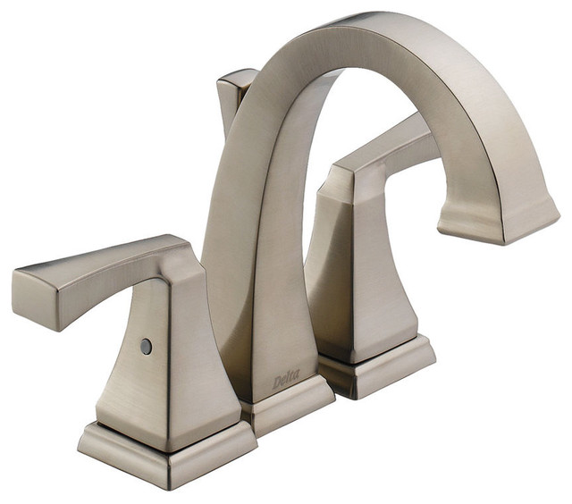 Delta Dryden Mini Widespread Faucet contemporary-bathroom-faucets-and-showerheads