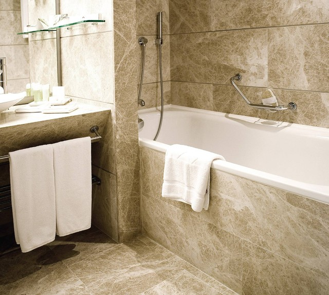 Natural Stone Tile Bathroom - - bathroom tile - - by Tiles Unlimited