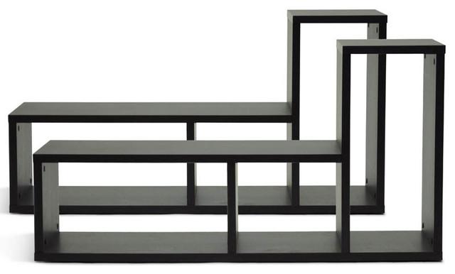 tillman dark brown modern display shelf modern display. Black Bedroom Furniture Sets. Home Design Ideas