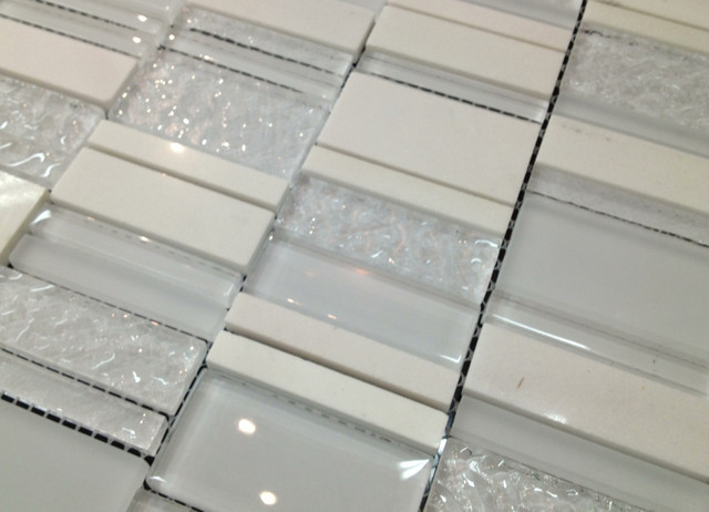 Links Line - Glass Tile and Stone Tile Mix contemporary