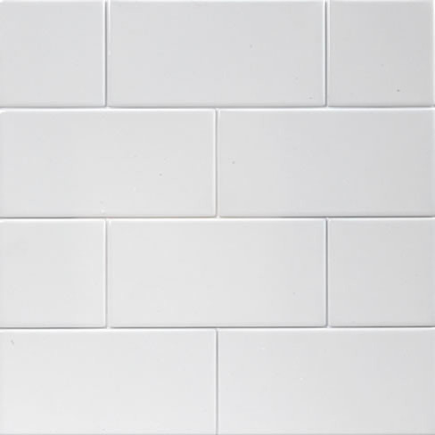 Ice White Matte Large Subway Tile - Transitional - Tile - by Mission Stone Tile