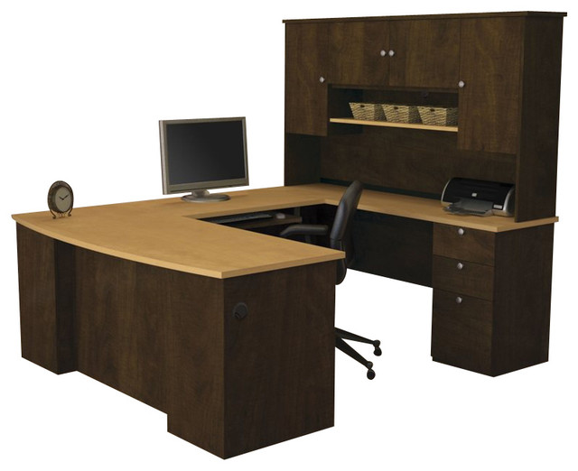 desk in secret maple and chocolate transitional desks and hutches