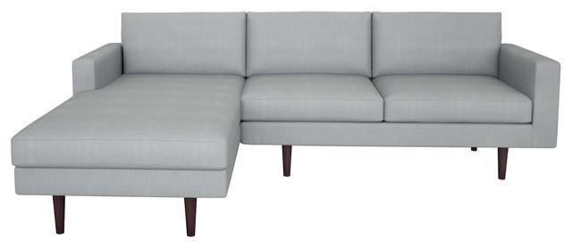 Brady Sofa W Chaise Bella Cornflower 120 Contemporary