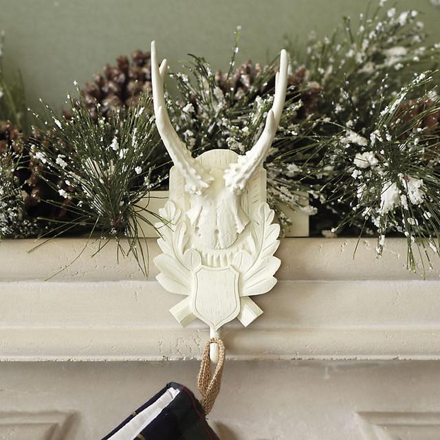 Suzanne Kasler Antler Stocking Holder traditional-holiday-decorations