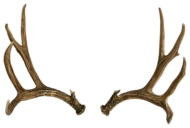 Faux Deer Antler Set Mule Deer Right Left
