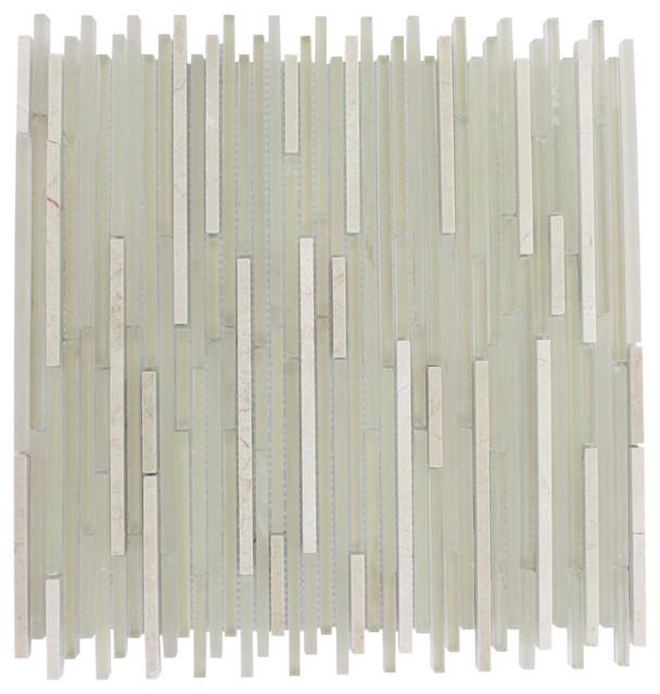 Breeze Stylus Crema Ice Pattern Random Glass Tiles contemporary-tile