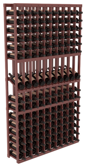10 Column Display Row Wine Cellar Kit in Redwood, Cherry Stain + Satin Finish contemporary-wine-racks