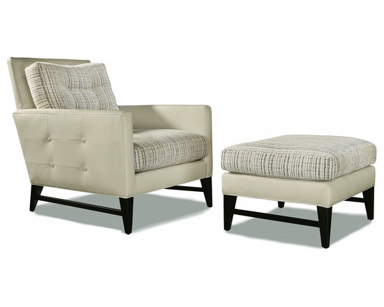 Talking Back Chair and Ottoman from Thayer Coggin -