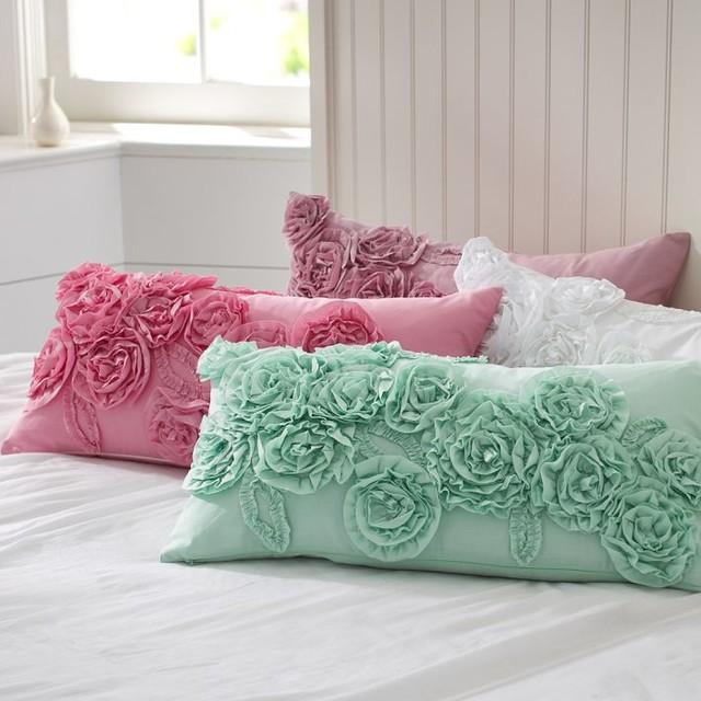 Throw Pillows Primark : Ruffle & Rose Lumbar Pillow Cover - Decorative Pillows - other metro - by PBteen