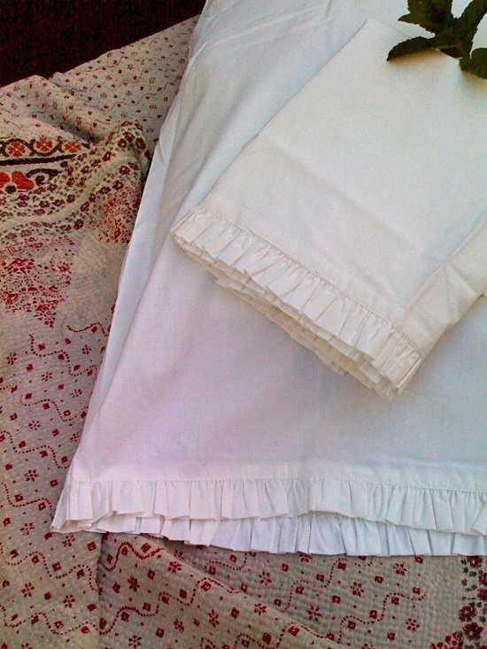 Cotton Ruffle Pillowcases -