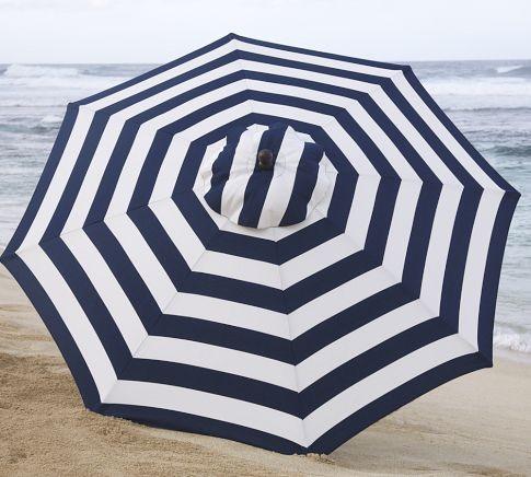 PB Classic Stripe   Contemporary   Outdoor Umbrellas   by Pottery Barn