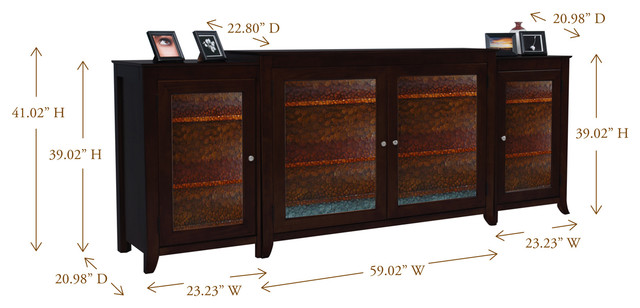 "Carmel TV Lift Cabinet With Side Cabinets For Flat Screen TV's Up To 55"" - Contemporary ..."