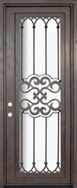 Tivoli 36x96 wrought iron single door 14 gauge steel for 14 gauge steel door