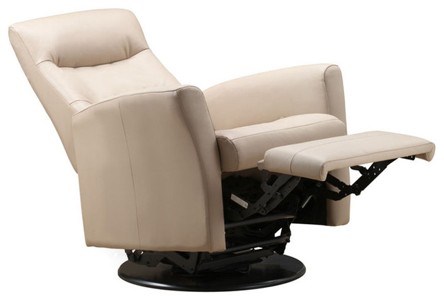 Rupert Leather Rocker And Swivel Recliner In Khaki Leather