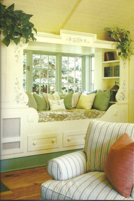 Window Seat w/ Built-in Bookshelves