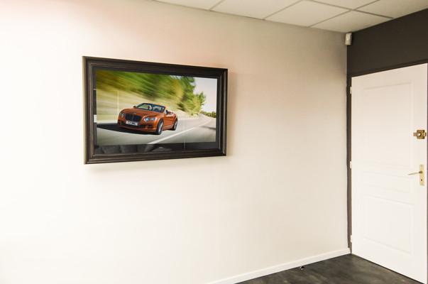 miroir tv cadre tv hollandais. Black Bedroom Furniture Sets. Home Design Ideas