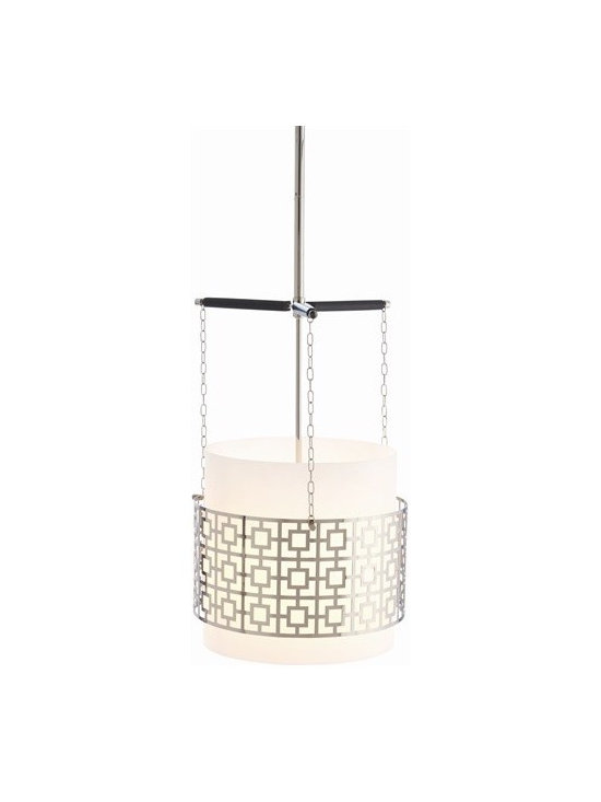 Arteriors Warren Iron/Glass/Wood Pendant - Warren Iron/Glass/Wood Pendant