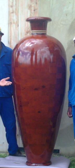 2.0m Bespoke Handmade Segmented Wooden Vessel mediterranean-indoor-pots-and-planters