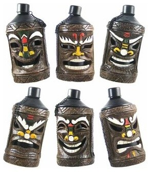 Set of 6 Polynesian Mask Tiki Torches Patio Torch contemporary-garden-statues-and-yard-art