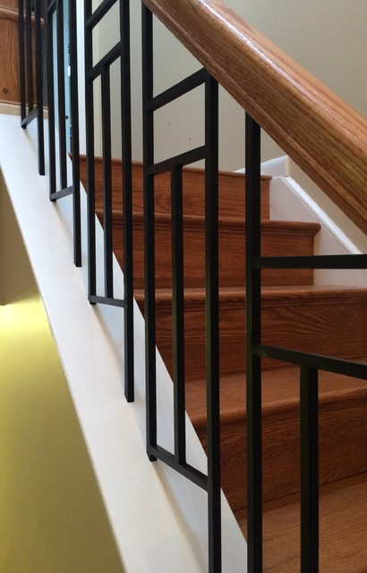 Custom Fabricated Balusters Craftsman Staircase