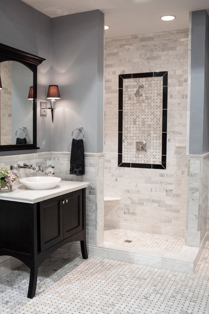 Hampton Carrara Marble Bathroom