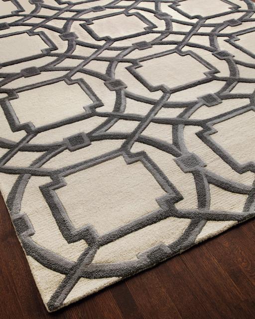 """Gray Abstract"" Rug rugs"