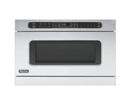 """Viking 24"""" Microwave Drawer - This beautiful 24"""" Microwave Drawer by Viking is not only convenient to use, but is built-in to save you more counter space.  It has a slim design and sleek style that helps maximize kitchen space and it can be installed  under a countertop, in an island, or under a wall oven"""