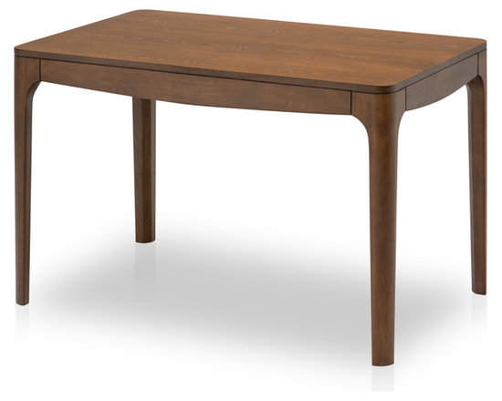 Bryght - Meteo Cocoa Dining Table For 4 - A blend of curves and linear lines, the Meteo dining table showcases a classic design that never goes out of style. This four seat dining table is perfect for a cozy home.