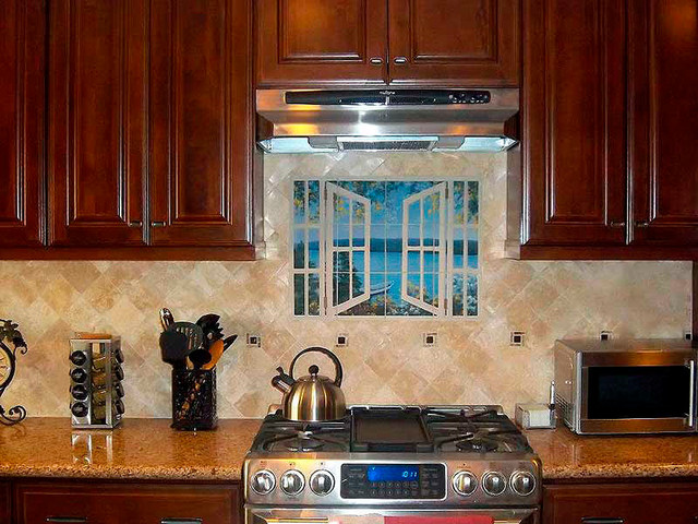 Island Time With Window Tropical Tile Tampa By The