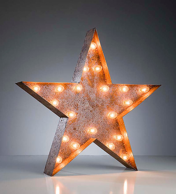 Vintage Marquee Light, Star by Vintage Marquee Lights eclectic-table-lamps