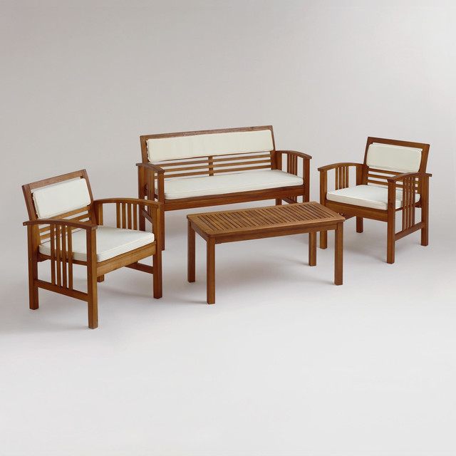4 Piece Belize Occasional Furniture Set Contemporary Outdoor Lounge Sets