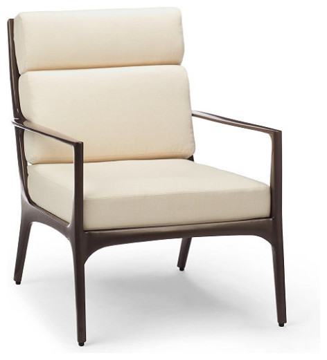 Anders Outdoor Lounge Chair with Cushions - Frontgate, Patio Furniture traditional-outdoor-chaise-lounges