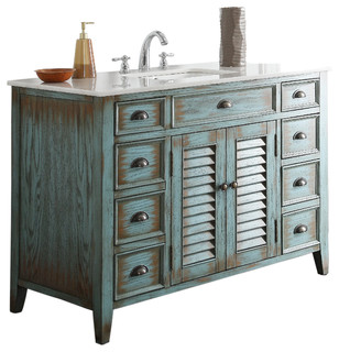 Abbeville 47 Inch Bath Sink Vanity Cf 28885bu Shabby Chic Bathroom Vanities And Sink