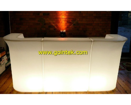 glowing colorful led bar counter with remote control -