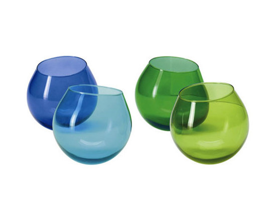 Museum Shop of the Art Institute of Chicago - Hula Glass Tumblers, Cool, Set of 4 -