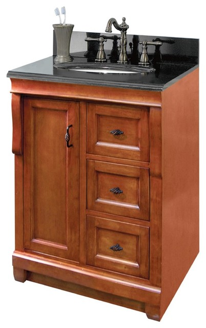 Foremost NACA2418D Naples 24 X 18 Vanity Cabinet Only In Warm Cin