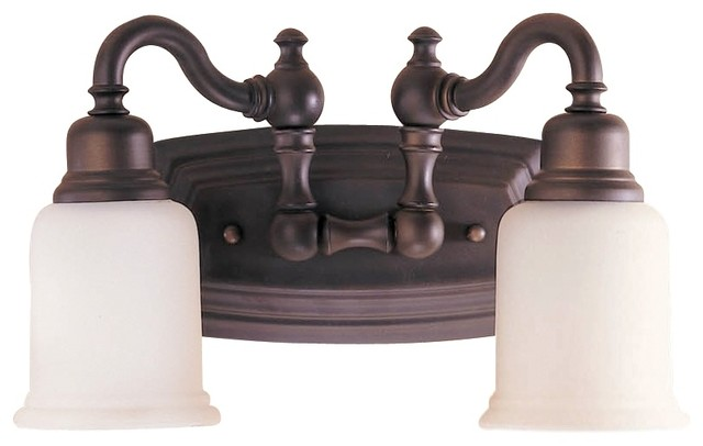 "Country - Cottage Feiss Canterbury Collection 14"" Wide Bathroom Light Fixture traditional-bathroom-vanity-lighting"