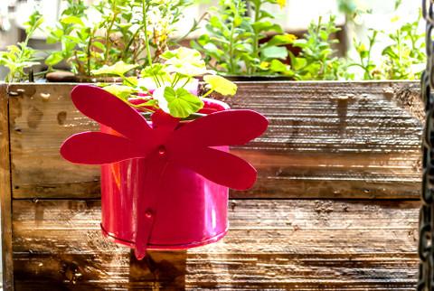 Drangonfly Balcony Railing Planter contemporary-indoor-pots-and-planters