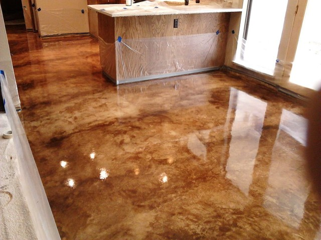 Interior concrete floor ideas traditional dallas by for Concrete floor covering ideas